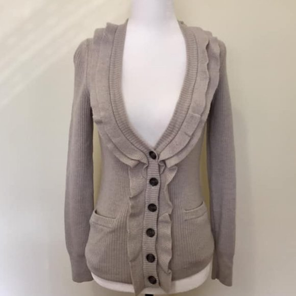 Banana Republic Merino Wool Beige Cardigan M